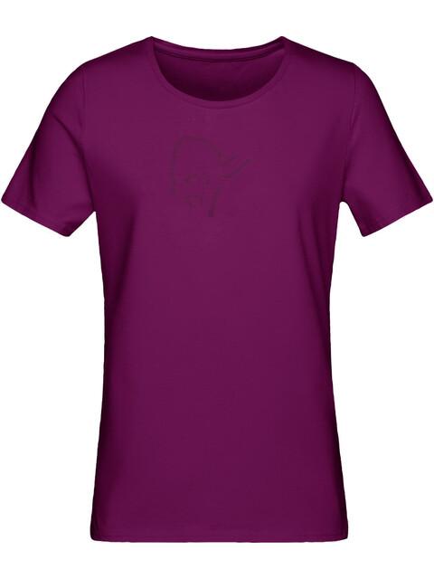 Norrøna W's /29 Cotton Logo T-Shirt Dark Purple